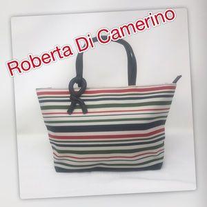 Roberta di Camerino Horizontal Striped Purse
